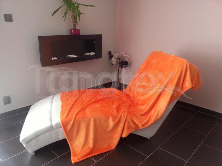 Deka Mikro - oranžová - Přehoz na postel a deky Deky 150x200
