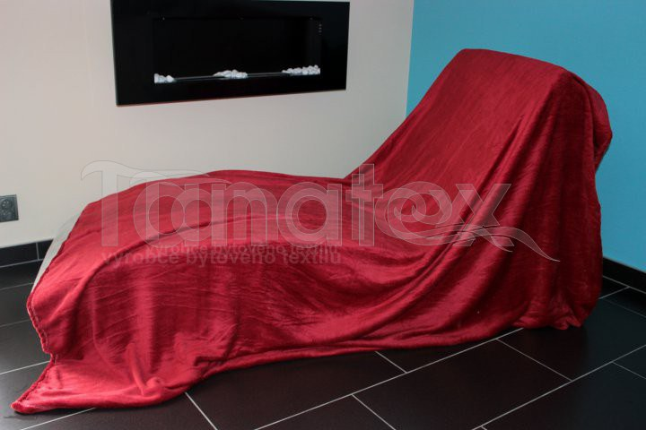 Deka Mikro - 200x220 malinová - Přehoz na postel a deky Deky 200x220