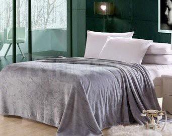 Deka Mikro - 200x220 šedá - Přehoz na postel a deky Deky 200x220