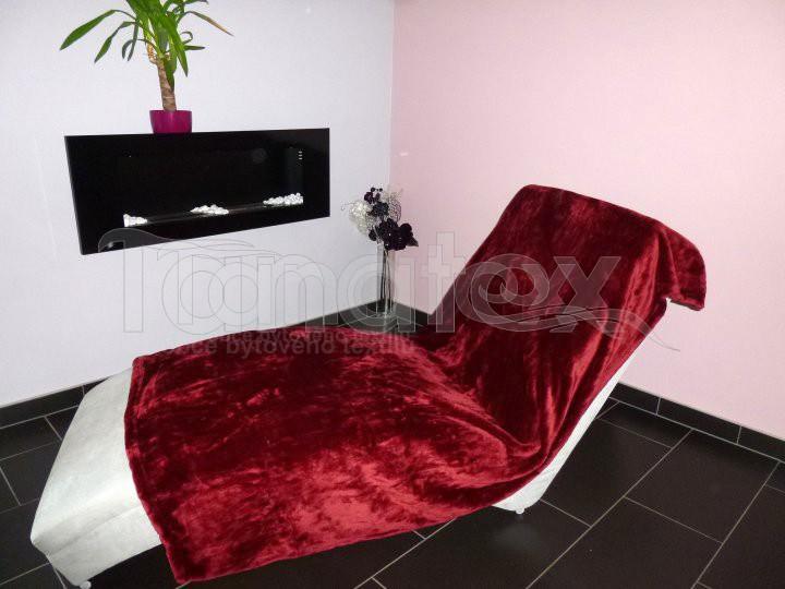 Deka Mikro - vínová - Přehoz na postel a deky Deky 150x200