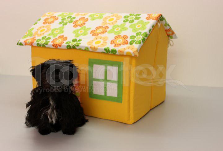 Domek Bobíček - žlutooranžový - Pelechy pro psy a kočky Pelechy Domeček malý - Bobíček