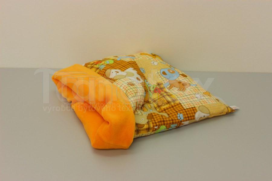 Chumlací Pytel - vel. xxl - pejsek a kostička se žlutooranžovou - Pelechy pro psy a kočky Chumlací pytle Chumlací pytel velký