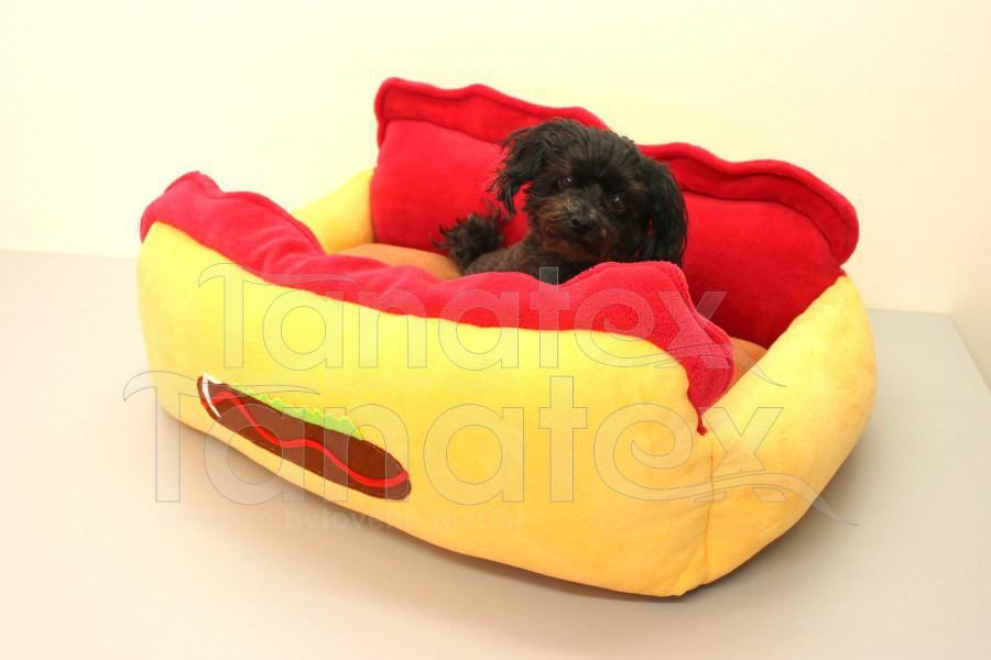 Hot Dog - banánový - Pelechy pro psy a kočky Pelechy Exclusive