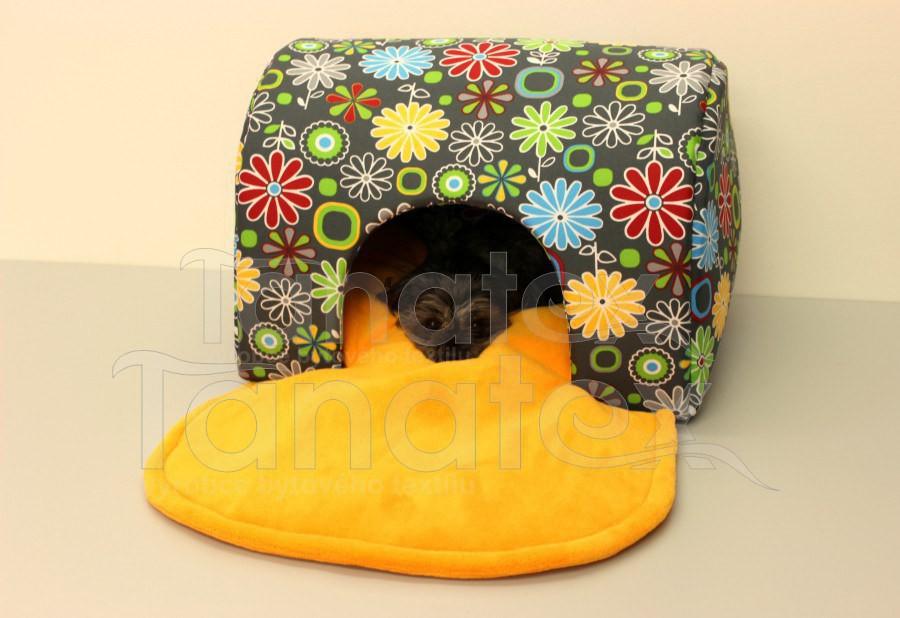 Tunel Lux - kytičky barevné - Pelechy pro psy a kočky Pelechy Tunel de luxe - omyvatelný
