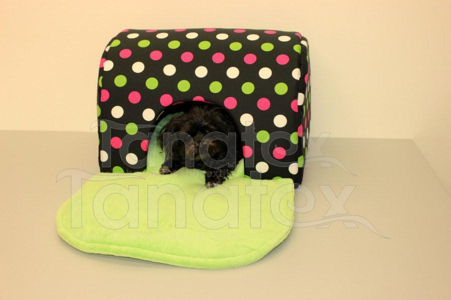 Tunel Lux - tečky - Pelechy pro psy a kočky Pelechy Tunel de luxe - omyvatelný