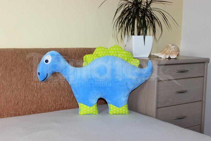 Polštářek Dinosaurus modrý - Polštářky Zvířátka
