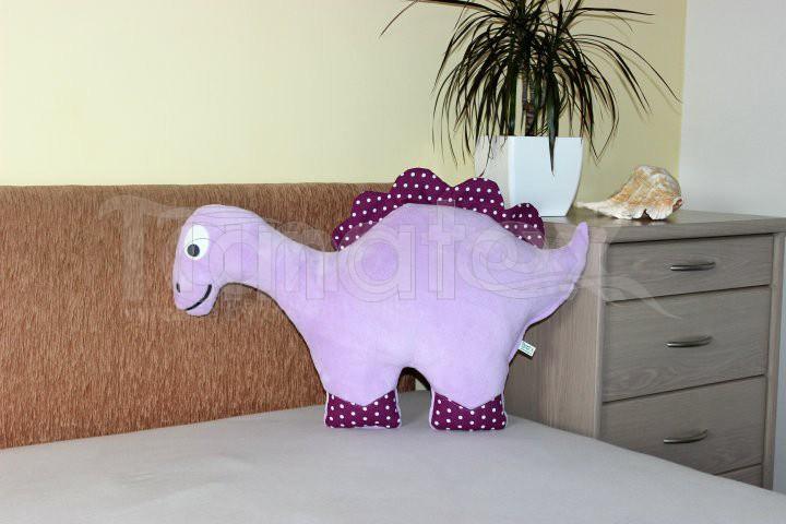 Polštářek Mikro dinosaurus fialový - Polštářky Zvířátka