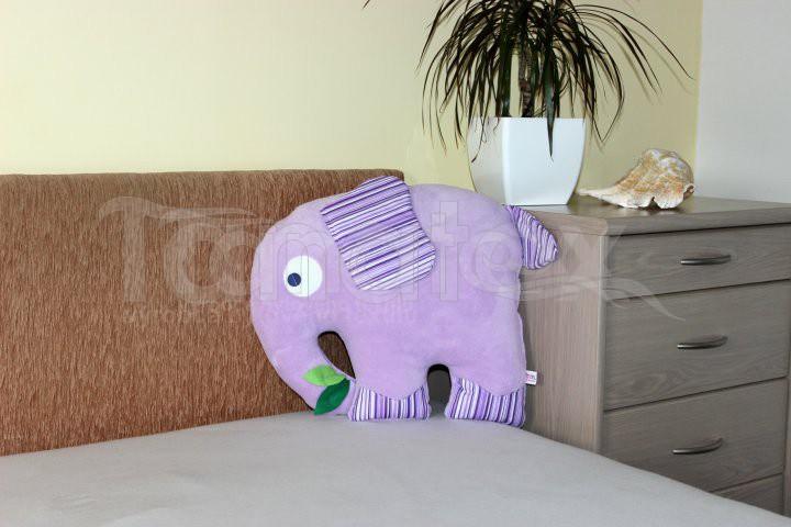 Polštářek Slon fialový - Polštářky Zvířátka