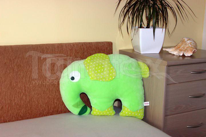 Polštářek Slon zelený 2 - Polštářky Zvířátka