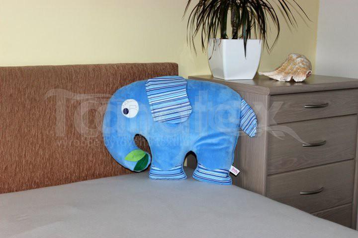 Polštářek Slon modrý - Polštářky Zvířátka