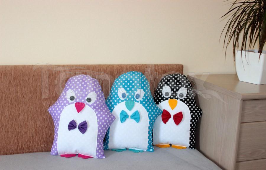 Polštářek Bavlněný tučňák - Polštářky Zvířátka