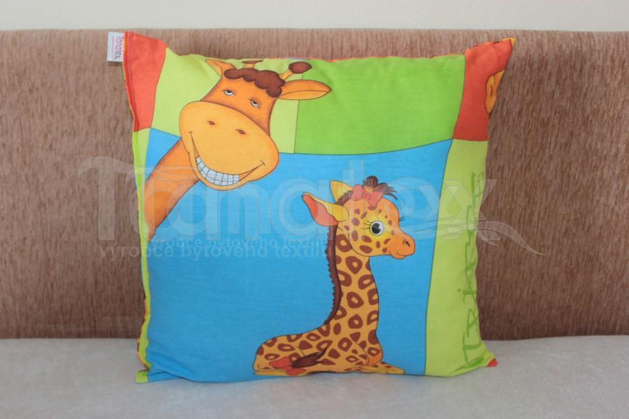 Polštářek Mazlík velký žirafky - Polštářky Mazlík pro děti mazlík velký