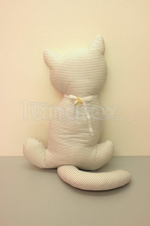 Polštářek Kočka šedá s proužkem - Polštářky Zvířátka