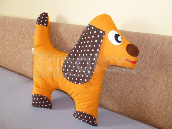 Polštářek Pejsek oranžový - Polštářky Zvířátka