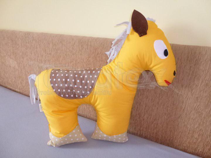 Polštářek Koníček žlutooranžový - Polštářky Zvířátka