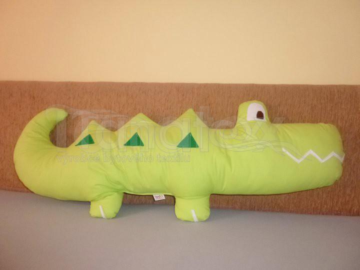Polštářek Krokodýl zelený - Polštářky Zvířátka
