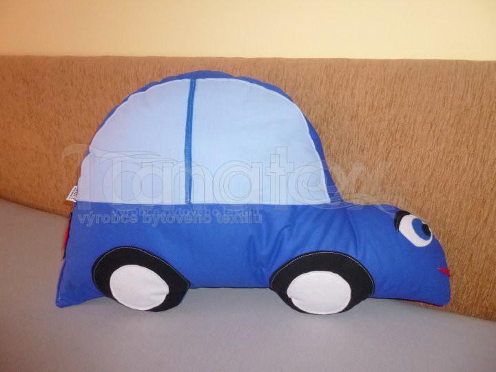 Polštářek Auto modré - Polštářky Speciál