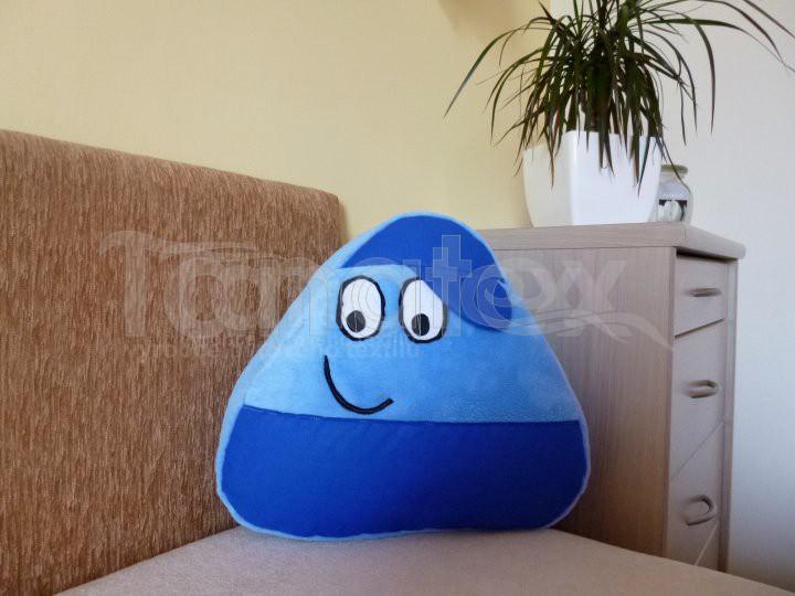 Polštářek Mikro pou kluk - modrý s modrou čepicí - Polštářky Polštář POU Pou polštářek malý Pou malý - klasik