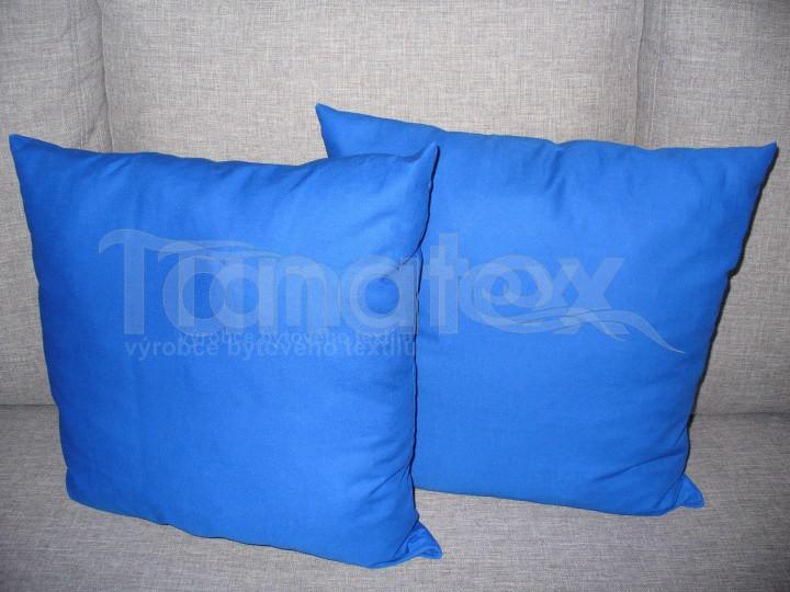 Polštářek 50x50 uni - royal modrý - Polštářky Polštářek klasik 50x50