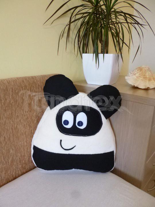 Polštářek Mikro pou s ušima - panda - Polštářky Polštář POU Pou polštářek malý Pou malý - klasik
