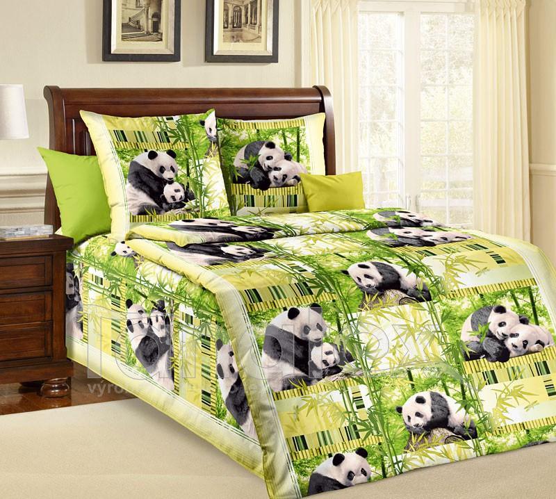 Povlečení Panda 220x260 - Ložní povlečení Bavlna 220x260