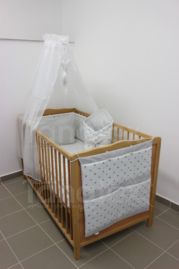 Povlečení Pro děti hvězdičky kombi tyrkysové + šedé - šedý proužek 90x130 - Pro děti a miminka Dětské povlečení 90x130