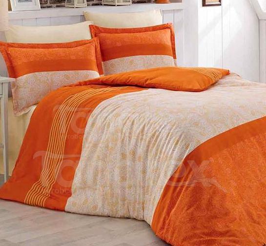 Povlečení Pomeranč 200x220 - Ložní povlečení Satén 200x220