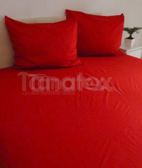 Povlak Satén 70x90 uni červený - Povlaky na polštáře povlak 70x90 povlak Satén