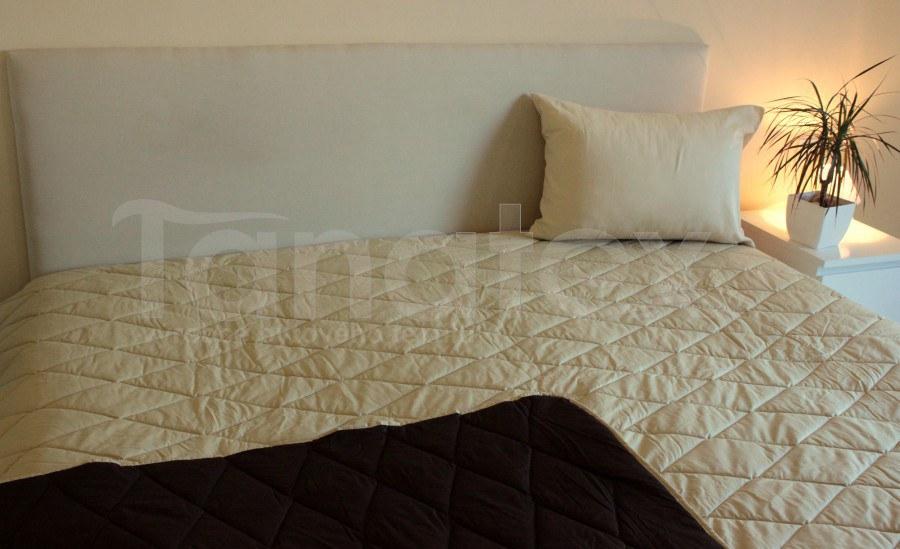 Přehoz 100% bavlna - uni hnědý - béžový - Přehoz na postel a deky Přehozy přehoz na dvojlůžko