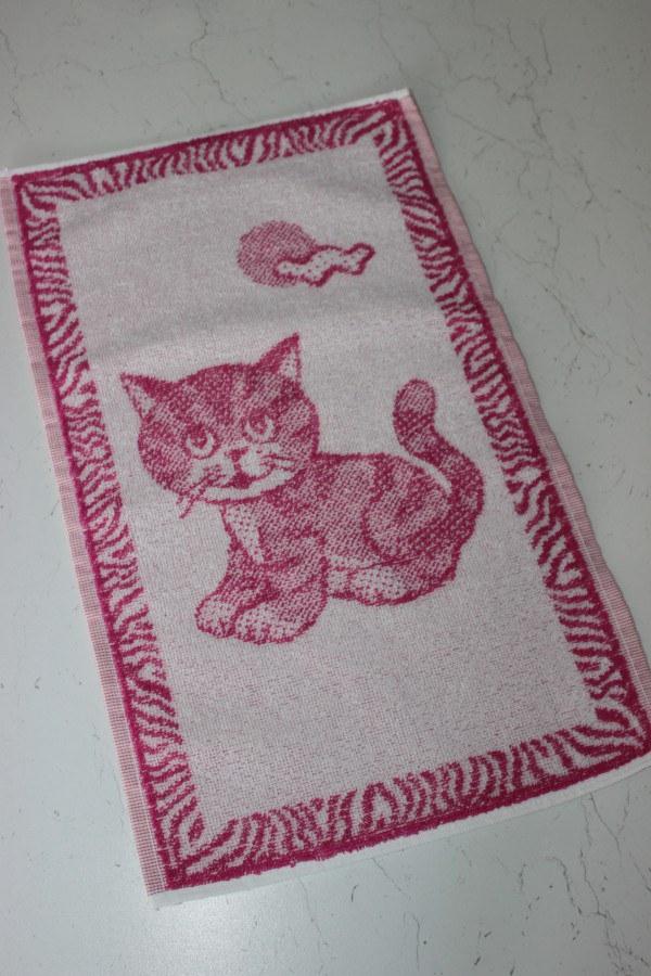 Ručník 30x50 koťátko růžové - Ručníky, osušky, předložky Dětské ručníky