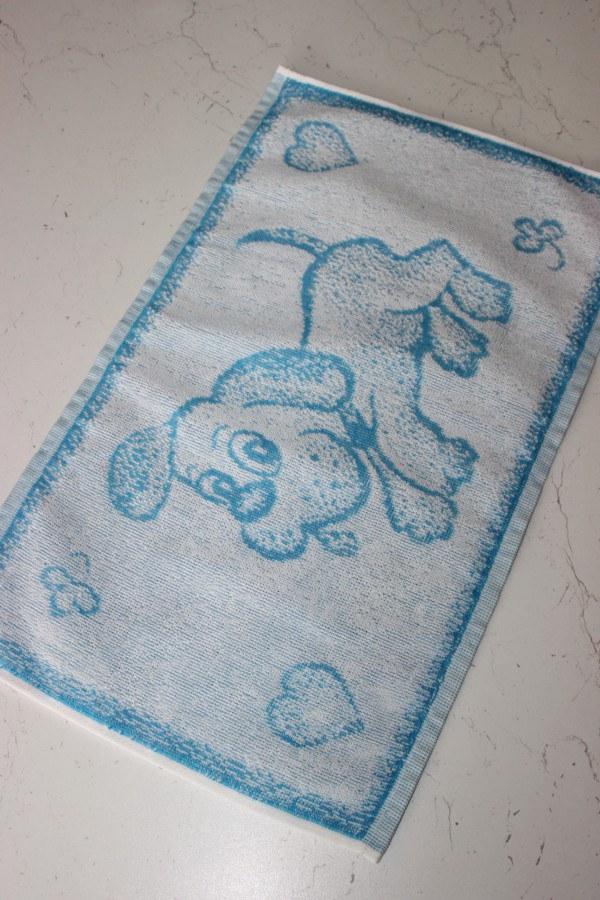 Ručník 30x50 pejsánek modrý - Pro děti a miminka Ručník do školy a školky