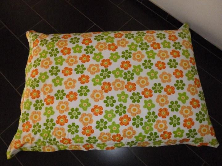 Sedací Vak - pytel - kytičky zelené - Bytový textil Sedací a válecí vaky