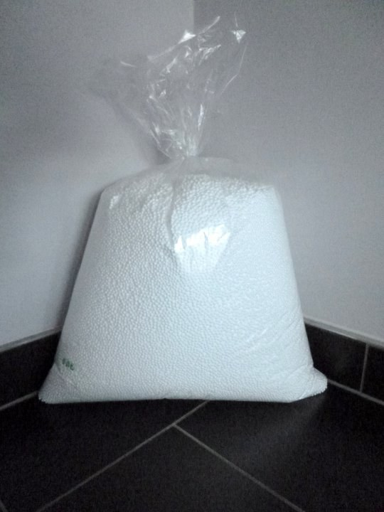Náplň Polystyrénové kuličky - 20 litrů - Bytový textil Sedací a válecí vaky
