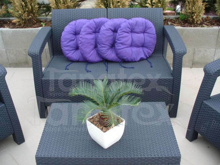 Sedák Kulatý - fialový - Sedáky sedák kulatý