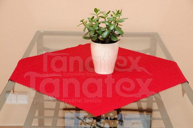 Ubrus 75x75 - teflon červený 7344 - 75x75 - Ubrusy a prostírání klasik 75x75