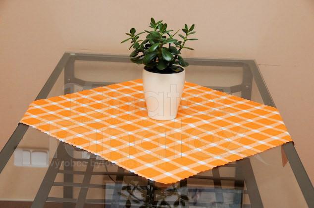 Ubrus Kulatý 80cm - kostka oranžová - Ubrusy a prostírání kulatý průměr 80cm