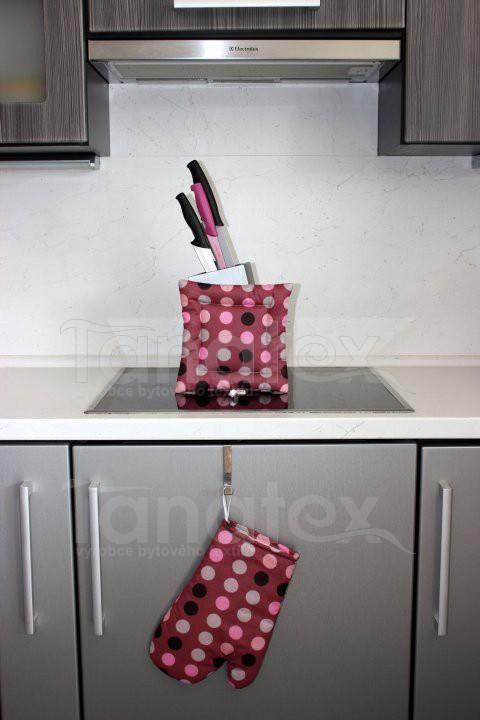 1ks Chňapka s magnetem - puntíky - Utěrky, chňapky, zástěry Chňapky Chňapky - rukavice