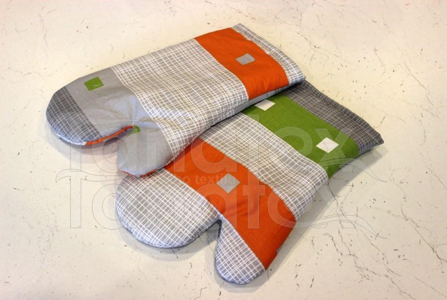 1ks Chňapka s magnetem - arkády oranž - Utěrky, chňapky, zástěry Chňapky Chňapky - rukavice