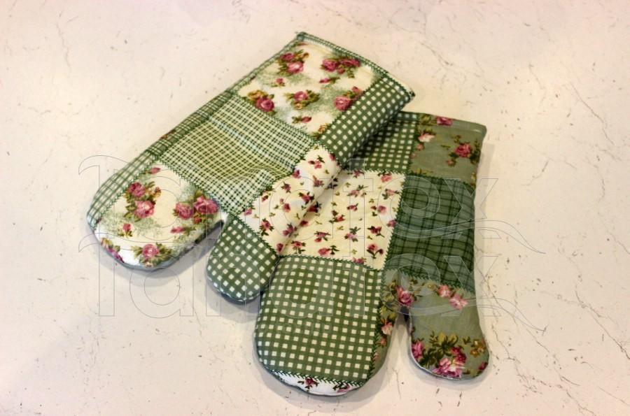 1ks Chňapka s magnetem - zelený patchwork - Utěrky, chňapky, zástěry Chňapky Chňapky - rukavice