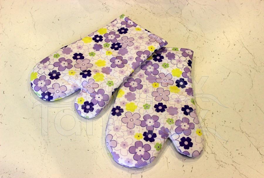1ks Chňapka s magnetem - květinky fialové - Utěrky, chňapky, zástěry Chňapky Chňapky - rukavice