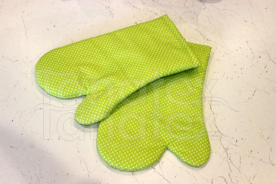 1ks Chňapka s magnetem - puntíček zelený - Utěrky, chňapky, zástěry Chňapky Chňapky - rukavice