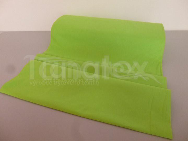Prostěradlo Na gumu zelené v11 140x200 - Prostěradla Plátěná prostěradla napínací do gumy 140x200 barevné