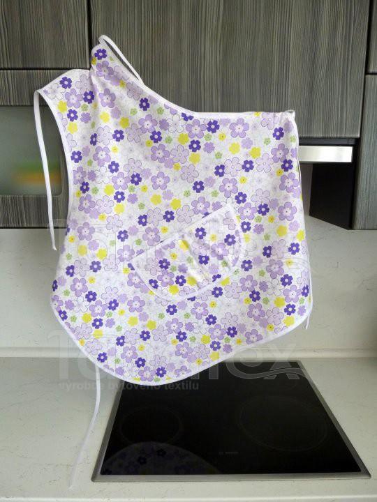 Zástěra Květinky fialové