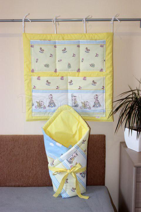 Zavinovačka Baby boom s uni žlutou - Pro děti a miminka Výbava pro miminko Zavinovačky