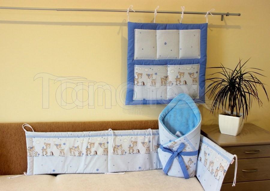 Kapsář Na postýlku koloušci modří - Pro děti a miminka Výbava pro miminko Kapsář k postýlce