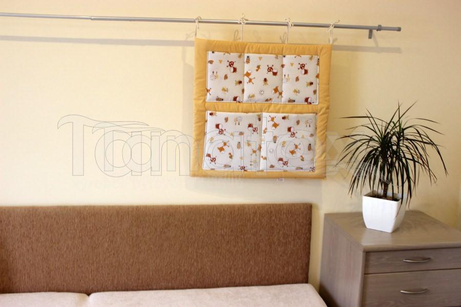 Kapsář Na postýlku kaštánci - Pro děti a miminka Výbava pro miminko Kapsář k postýlce
