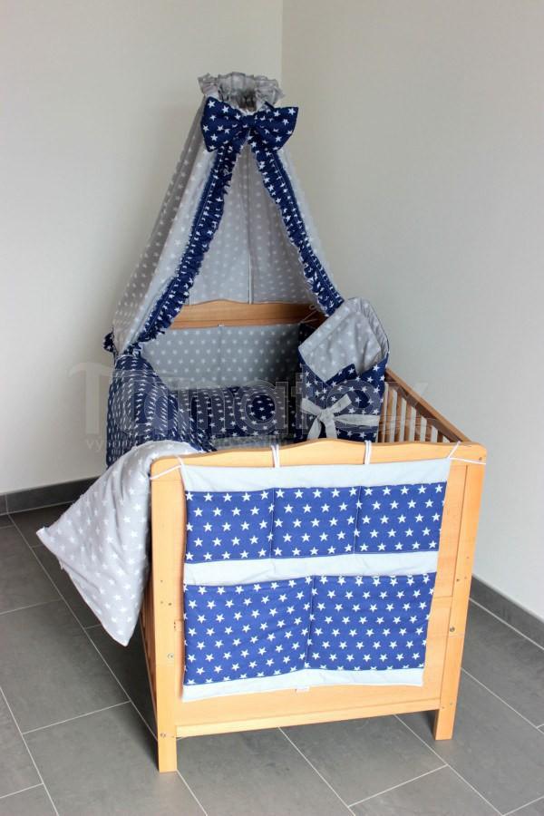 Zavinovačka Tmavě modré hvězdičky - šedé hvězdičky - Pro děti a miminka Výbava pro miminko Zavinovačky