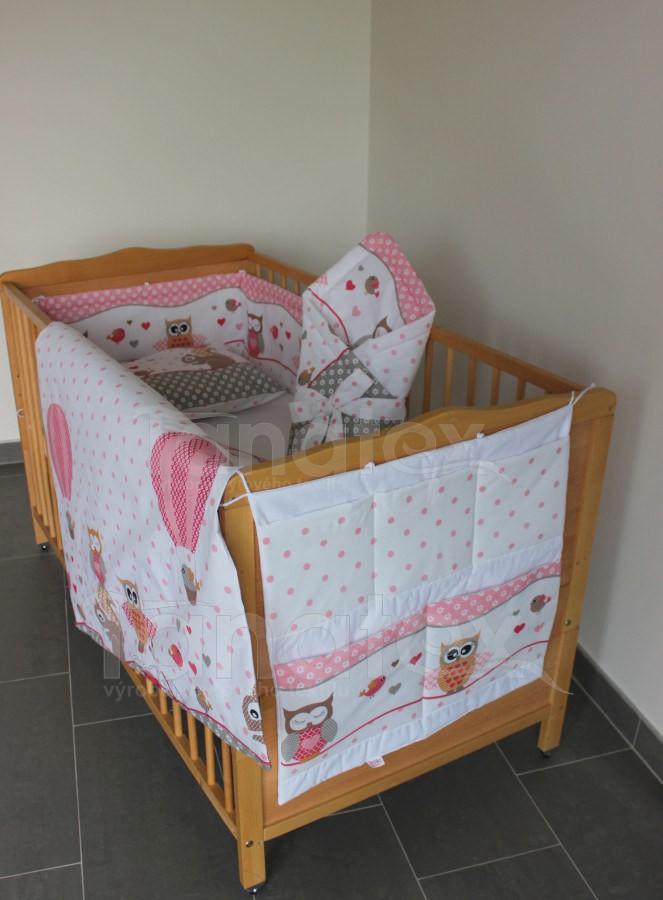 5 Ti dílná sada sovičky růžové s bílou - Pro děti a miminka Výbava pro miminko Zvýhodněné sady pro miminko