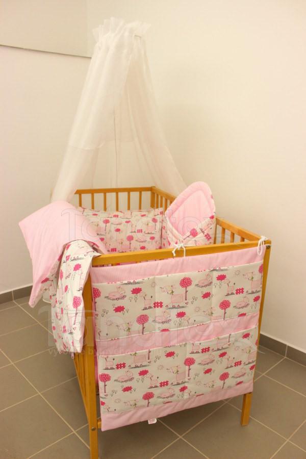 Povlečení Do postýlky žirafky růžové - růžový proužek 90x120 - Pro děti a miminka Výbava pro miminko Povlečení pro miminka do postýlky 90x120
