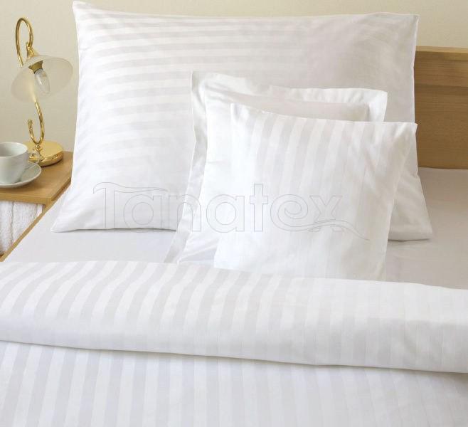 Povlak 70x90 pruhy bílé - Ložní povlečení Povlaky na polštáře povlak 70x90 povlak Satén